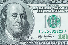 Close-up on Benjamin Franklin. Close-up portrait of Benjamin Franklin . Concept and Ideas Stock Photo