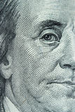 Close-up on Benjamin Franklin. Close-up portrait of Benjamin Franklin . Concept and Ideas Stock Photos