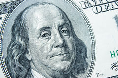 Close-up on Benjamin Franklin. Close-up portrait of Benjamin Franklin . Concept and Ideas Stock Photography