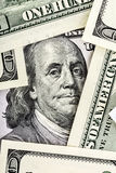 Close-up of Benjamin Franklin Portrait on One Hundred Dollar Bil Stock Photography