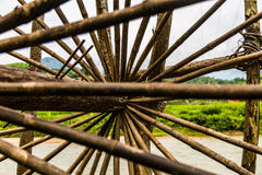 Close up of a bespoke water wheel Stock Photos