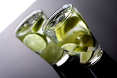 Close up of beverage with lime Stock Images