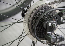 Close up of bicycle gears Stock Photo