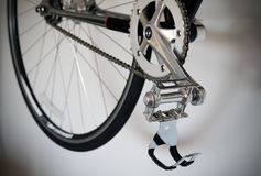 Close up of bicycle's pedal Royalty Free Stock Images