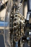 Close up of bicycle spokes royalty free stock image
