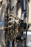 Close up of bicycle spokes. A close up image of bicycle spokes stock photo