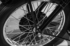 Close-up of Bicycle Wheel Royalty Free Stock Photography