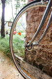 Close up bicycle wheel Royalty Free Stock Images