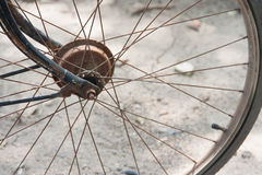 Close up of bicycle wheels Stock Photos