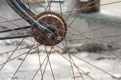 Close up of bicycle wheels Stock Photography