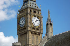 Close-up of Big Ben, London, UK Royalty Free Stock Images