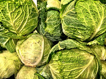Close up of a big box of cauliflower at the super market. In vegetables section Royalty Free Stock Image