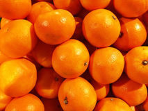 Close up of a big box of Oranges at the super market Royalty Free Stock Images