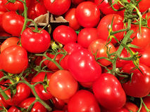 Close up of a big box of Tomatoes at the super market Stock Photo