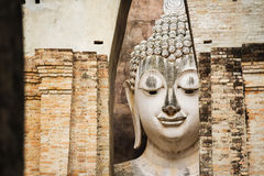 Close up Big buddha statue at Sukhothai historical park. Srichum Temple ,Thailand. Royalty Free Stock Photos