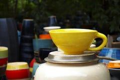 Close up big coffee cup Stock Photos