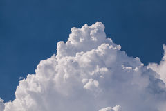 Close-up big fluffy. White clouds in the blue sky Stock Images