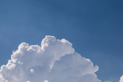 Close-up big fluffy. White clouds in the blue sky Stock Photography