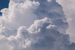 Close-up big fluffy. White clouds in the blue sky Royalty Free Stock Images