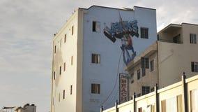 Close up of a big mural in Venice Beach