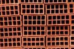 Big pile of brand new bricks. A close up of a big pile of brand new bricks royalty free stock image