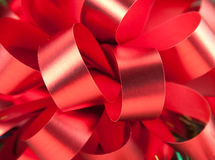 Close-up of big red bow Stock Images