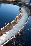 Close-up of big sedimentation drainage stock photos