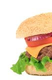 Close up of big tasty hamburger. Royalty Free Stock Image
