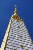 Close up big and white pagoda Royalty Free Stock Photos