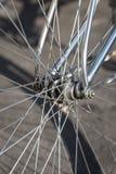 Close up bike wheel stock photography