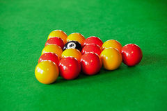 Close up of billiard balls Stock Photography
