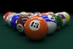 Close-Up Billiard Balls. For game Stock Image