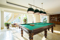 Close-up of billiard table Royalty Free Stock Images