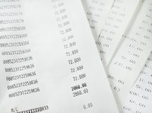 Bills shopping list Stock Image