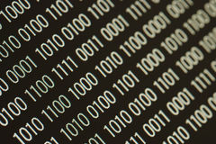 Close up of binary code royalty free stock photos