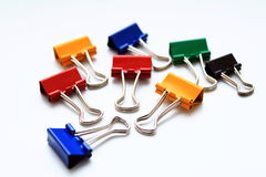 Close-up of  binder clips Stock Image