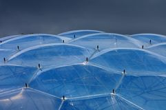 Close up biomes at Eden Project royalty free stock photo