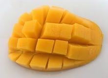 Cubed Honey Mango, Close Up royalty free stock images