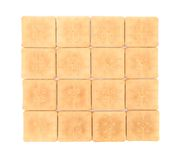 Close up of biscuit wall. Royalty Free Stock Photography