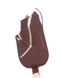Close up of bitten chocolate vanilla ice cream Royalty Free Stock Photos