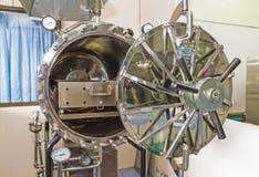 Close up black autoclave, hole of autoclave,sterilization Royalty Free Stock Photo
