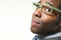 Close-up of black businessman Royalty Free Stock Photo