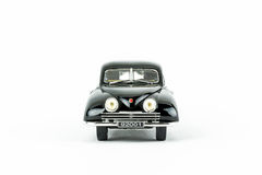 Close up of black classic vintage car, scale model. Stock Photo