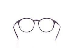 Close up black eye glasses isolated on white. Background stock photography