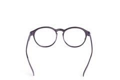Close up black eye glasses isolated on white. Background stock photo