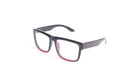 Close up black eye glasses isolated on white. Background stock photos