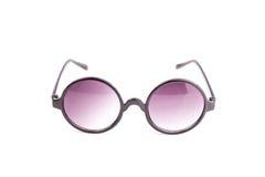 Close up black eye glasses isolated on white. Background royalty free stock images