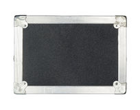 Close up of a Black Flight Case on White Background Royalty Free Stock Photos