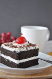 Close up Black Forest Cake Royalty Free Stock Photos