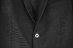 Close up black formal suit Royalty Free Stock Photography